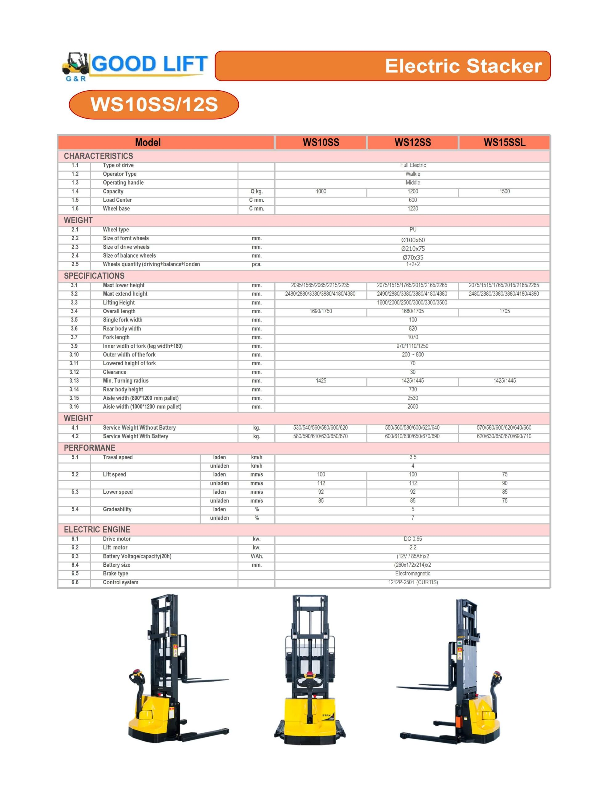 ELECTRIC STACKER-WS10SS-12SS-15SSL LEG WIDE
